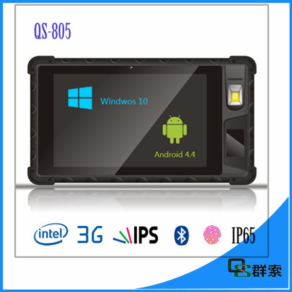 Best waterproof IP65 dual operating system portable industial pda cheap rugged tablet pc