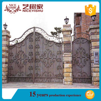 Wrought iron arched top gate design