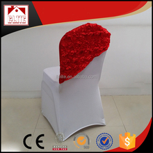 Rosette wedding cheap chair covers /chair sashes