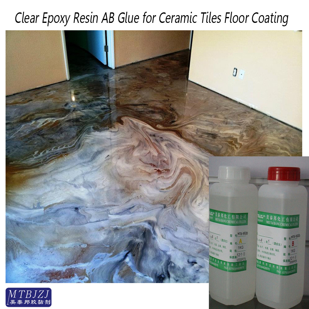 Hard Self Levelling Clear Epoxy Resin Coating and Paint Glue for Stone/Marble/Ceramic Tiles/Decorative Boards/Desktop/Wood Floor