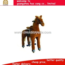 2016 best selling plush walking horse with sound for kids and adults