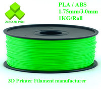 High Quality 1.75mm ABS PLA filaments many colors for 3D printers/ universal 3D filaments for 3D printer