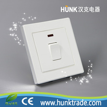 20A DP push button electrical Water heater wall switch with led light