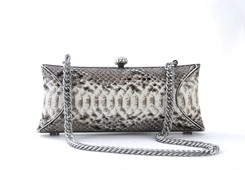 Luxury Genuine Python Snakeskin Evening Clutch Bag elegant wedding clutch bag