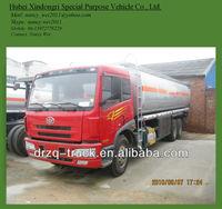 FAW truck oil tanker weight