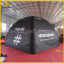 Hot Sale 4m Black Inflatable X Tents, Air Tight Pneumatic Inflated Tent