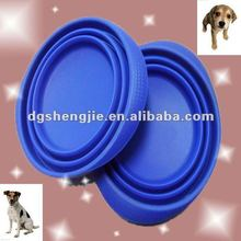 2012 new design silicone collapsible travel pet bowl custom