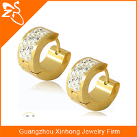 Fashion jewellery made in china,pave fake pink pearl hoop earring,gold round earring