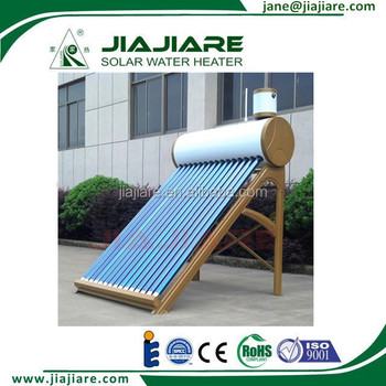 The Belt and Road Country Customized 20 Vacuum Tubes Compact Solar Water Heater
