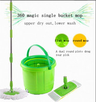 high quality 360 hand press flat and round 2 devices microfibr magic mop