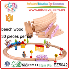Promotional Trial Toys Beech Wood Material Educational Wooden Train Toys for Kids