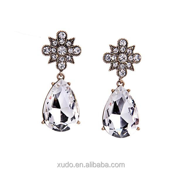 free shipping wedding crystal earring in stock