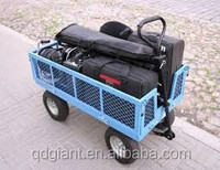 High quality folding side metal beach wagon