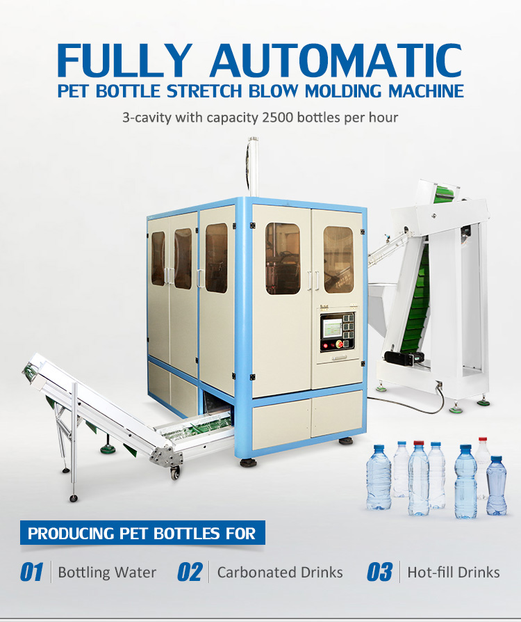Fully Automatic Mineral Water Bottle Making Machine Maximum 2L Capacity Bottle Making Machine