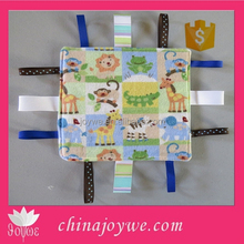 Baby Taggy Ribbon Blanket Minky Blankie Lovie Lovey Baby Gift