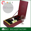 Clamshell custom wine glass gift boxes wholesale rubber band