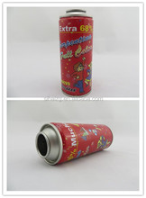 Diameter 52mm necked-in empty printed packaging aerosol tin can for snow spray
