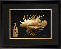 Oriental Handmade Fish Gold Foil Picture Housewarming Gifts High Quality 3D God Photos Hot Sale