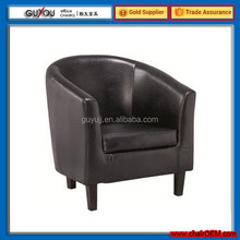 Y 5960 PU Leather Antique Wooden Tub Chair Restaurant Tub Chair Home Furniture