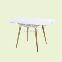 Simple design durable plastic 4people dining table