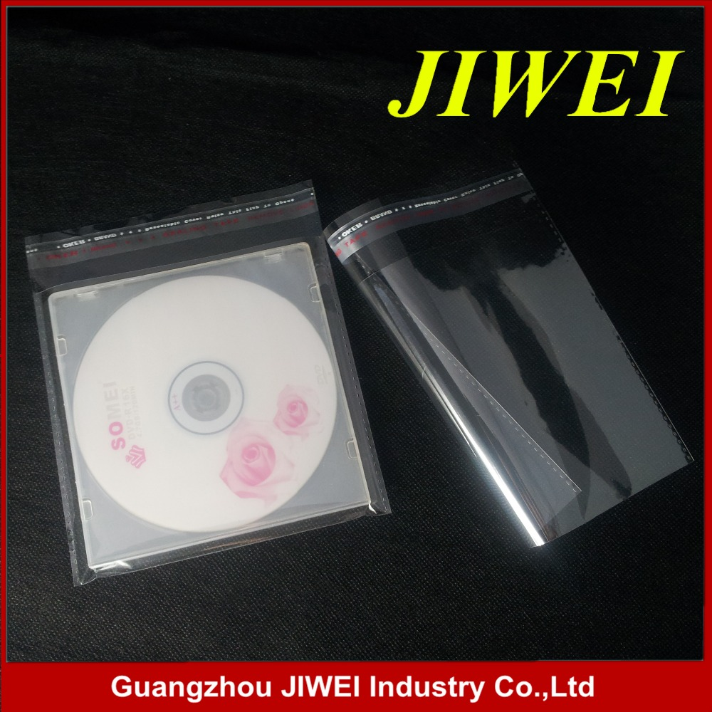 OPP Resealable Plastic Wrap Bags for 7mm Slim DVD Case Peal Seal