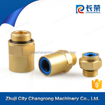 Pneumatic abc push-in brass fitting/copper fittings