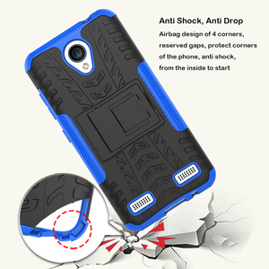 New design rugged hard plastic tyre back phone case for ZTE Blade A520 with kick stand