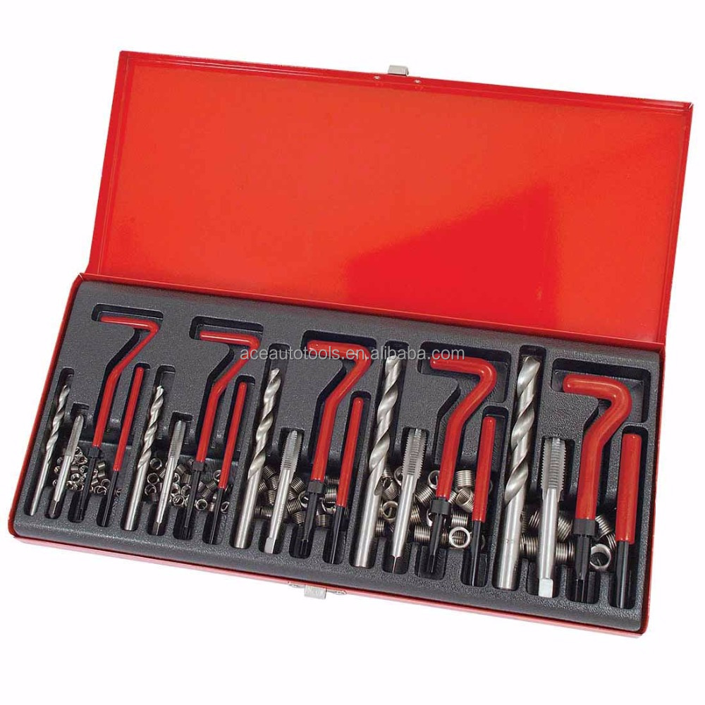 Auto <strong>Tool</strong> 131 Pieces Automotive Thread Repair Kit Set Rethread Damaged Threads Garage <strong>Tool</strong> Re-thread Kit Restoring Threads M5-m1