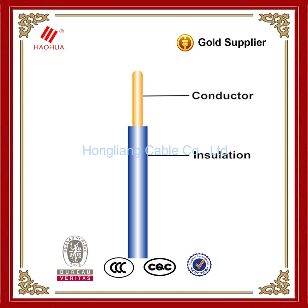 Copper PVC wire 1.5mm 2.5mm 4mm 6mm 10mm single core wire - House wiring electrical cable price
