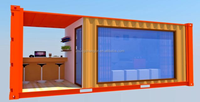 Modern Shipping Container Store Cafe Coffee Shop Pub Bar Business Eco Design Building Multi Level Strong Building 20ft 40ft