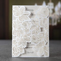 Unique Latest White Luxury Wedding Laser Invitation Card