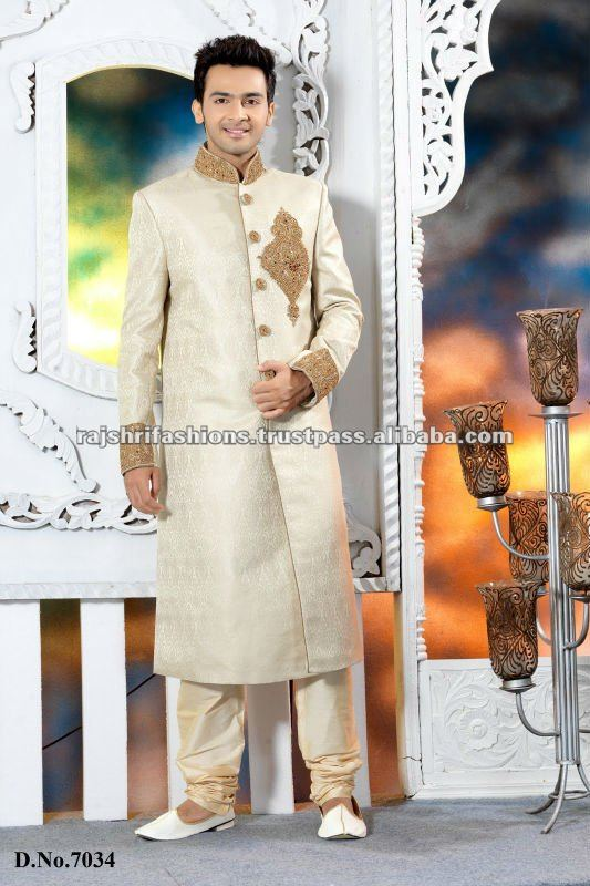 Cream Mens Fashion Designer Sherwani Suits