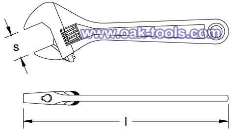 stainless steel casting adjustable wrench spanner