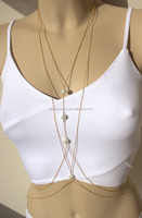 china jewelry wholesale stainless steel body chain harness necklace sexy beach chain jewelry