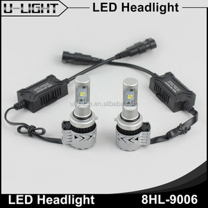 Factory 40W 6000LM/bulb super bright CR XHP50 chips led headlight 9005,9006,H1,H3,H7,H8,H9,H10,H11,9012,5202, from U-LIGHT