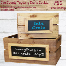 Wood vintage wine crates