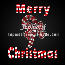 Merry Christmas crystal rhinestone mesh digital transfer printing
