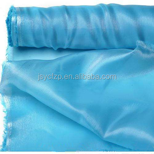 Hot selling Shiny Korean Satin organza fabric rolls 47cm x 10m,23.5cm x 10m
