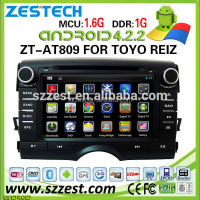 ZESTECH factory 8 inch touch screen Android car dvd gps for TOYOTA REIZ double din car dvd with GPS+FULL MEDIA