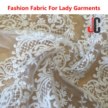 Shaoxing 4528 JC TEXTILE 100% polyester chemical lace fabric embroidery