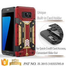 Kickstand card holder bumper fancy mobile phone case for samsung galaxy note 5