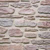 PU Polyurethane light weight 3D effect faux stone wall panel