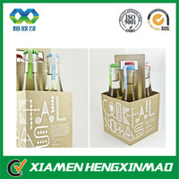 Custom cardboard wine carriers;portable wine carrier ;soft drinks carrier