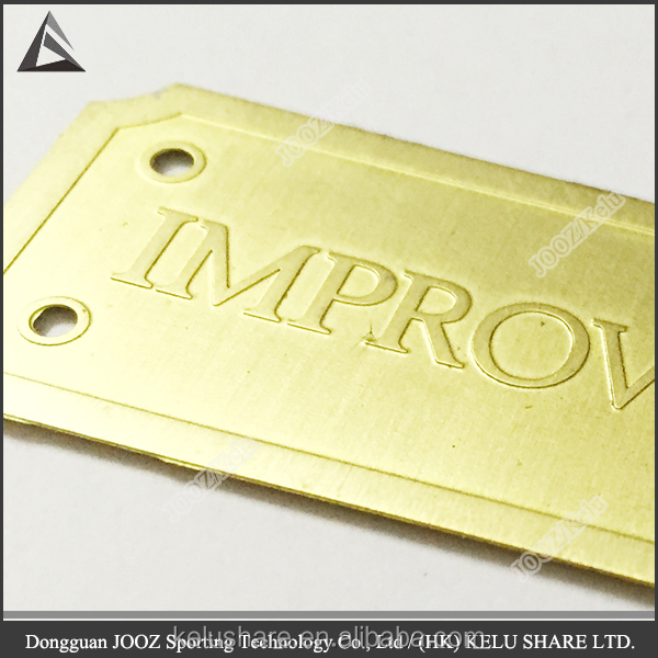 Custom fashion gold metal label with raised letter buy for Raised metal letters