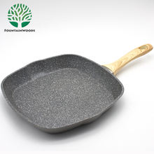 11 inch Square Stone Non-stick Coating Ceramic Griddle Pan with Oil Mouth