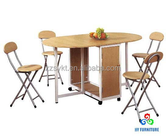 Dinning room set dining room furniture folding wooden table and chairs set