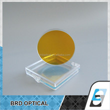high reflective optical glass mirror coated gold