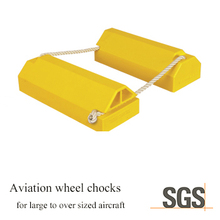 FD-00006-1 large aircraft aviation polyurethane wheel chocks airplane chocks