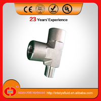 Stainless steel ss tee pipe fitting/stainless steel reducing tee/hydraulic tee fitting