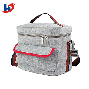 Eco Friendly Kids Portable Tote Cooler Felt Lunch Carry Bag